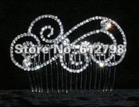 Headbands Women's Wedding Yiwu jewelry Shining Wedding Bridal Crystal Veil Tiara Crown Headband