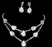 Wholesale XL1037 YiWu Manufacturers to supply the bride Acrylic necklace wedding necklace Wedding Jewelry Sets