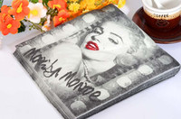 Wholesale Paper Napkins Marilyn Monroe PC Printing INCH Wedding Party Birthday Paper Napkin