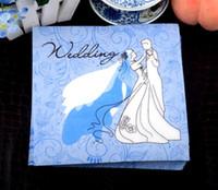 Wholesale Paper Napkins Printing CM Wedding Party Birthday Paper Napkin WEDDING TIME