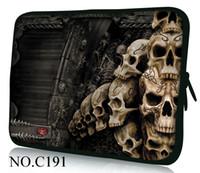 Wholesale quot quot quot quot inch waterproof laptop sleeve Skull case neoprene bag Fr HP Pavilion