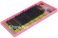 Wholesale Mix Size Korea dense false eyelashes extension mm thick individual human hair eyelashes