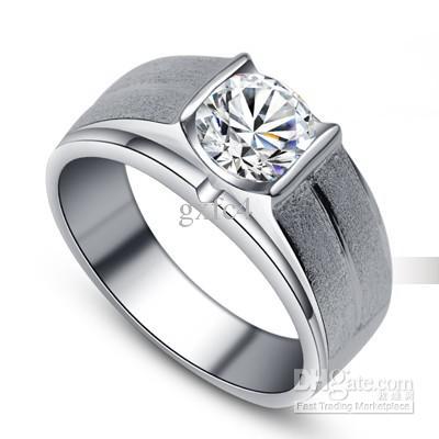 2017 18k Top Simulation Diamond Ring Men Engagement Ring Diamond Ring  Wedding Ring From Gxfc4, $101.71 | Dhgate.Com