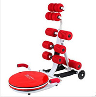 Ab Rollers Four-Wheeled red New abdomen exercise machine, AB machines, weight machines, fitness chair, fitness equipment