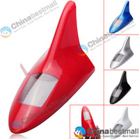 11130   6 LED Shark Fin Shaped Solar Energy Rear-End Anti-Collision LED Alarm Light for Car Random Color