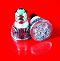 Dimmable e27 conduit 4x1w Avis-Vente en gros Livraison gratuite Dimmable 4x1W MR16 GU10 E27 B22 E14 E27 LED Ampoule Lumière Spot Lampe