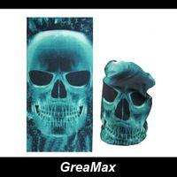 Wholesale Skull Ghosts Tubular Face Mask Multifunctional Seamless Bandana Motorcycle Cycling Scarf Neck Warmer Bandanas Headwear