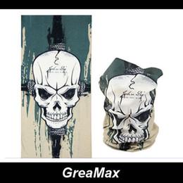 9 styles Designed Skull Multifunctional Headband Seamless Bandana Face Mask Magic Scarf Bicycle Bandanas Tube Motorcyle Bicycle Headwear mix