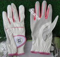 Wholesale super antislip Indonesia imported suede men leather golf gloves GF0004