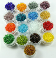 Wholesale 2MM MM MM Transparent Czech Glass Seed Spacer beads Jewelry MANY COLORS
