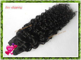 Wholesale queen cheap vbc001 pieces virgin brazilian remy human hair curly wave grade AAAAA quot quot free ship