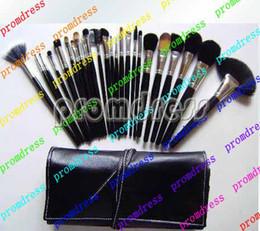 Air en cuir libre à vendre-24 Piece maquillage de la poste aérienne de la Chine nouvelle marque Brush Set avec étui en cuir * Envoi gratuit *