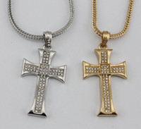 Wholesale Hip hop jewelry men jewelry bling bling necklace iced out cross pendant rapper s faveriote