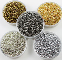 Wholesale Silver gold white gold plated colors seed beads MM Czech Glass Seed Spacer beads Jewelry