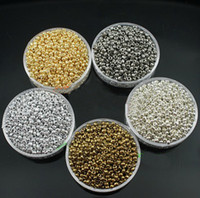 Wholesale DIY JEWELRY Silver gold white gold plated colors MM Czech Glass Seed Spacer beads Jewelry