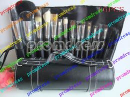 Air en cuir libre à vendre-China post air de haute qualité 1pcs 16 pièce Makeup Brush set avec étui en cuir * livraison gratuite *