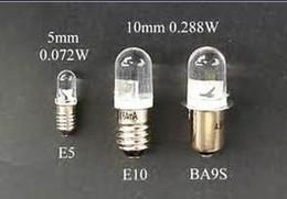 Wholesale E5 LED replacement lamp E5 LED light bulb E5 LED Miniature Bayonet bulb lamp V white