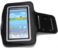 Leather For Samsung  100pcs Sports Armband For Samsung Galaxy S3 III i9300 Arm Band Case Cover DHL or FEDEX