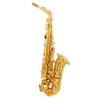 Wholesale Stylish Mid range Alto Drop E Paint Gold Saxophone Paint Gold Tube With Carve Patterns