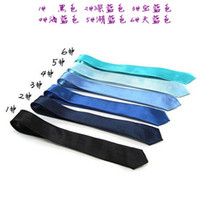 Wholesale Children s Ties Narrow tie small tie thin tie leisure tie Solid color many color about cm