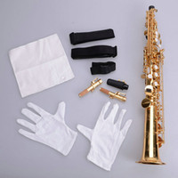 Wholesale Stylish Treble B Flat Metal Straight Pipe Saxophone Golden