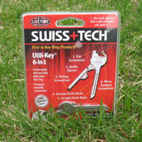 Wholesale OEM SWISS TECH Utili Key In Mini Multitool Keyring Pocket Knife Folding Knife Survival