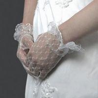 Wholesale GL1004 Bridal Gloves Wedding Gloves Gloves Voile Wrist Wedding Gloves