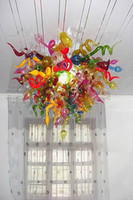 beautiful stair - Beautiful Colorful Murano Glass Chandelier Contemporary Residential Lighting Mouth Blown Artistic Pendant Stair Corridor Hallway Deco