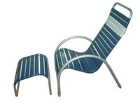 Wholesale outdoor furniture reading chair with ottoman for house garden swim pool