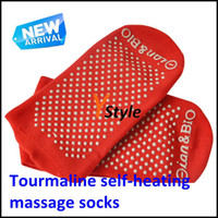 Anti-Fatigue Infrared Therapy Tourmaline self-heating therapy New Arrival Tourmaline Socks Far Infrared Massager Socks Free Shipping Red White Black Self-heating Warm Socks 2 Pairs A Lot