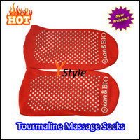 Sauna Therapy Self-heating sauna socks  New Arrival Tourmaline Socks Far Infrared Massager Socks Free Shipping Red White Black Available Self-heating Warm Socks A Pair
