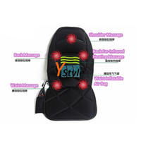 Wholesale Vibration Far Infrared Heating Massage Chair Seat Cushion For Sale Heating for Neck Shoulder Back Waist Massager Chair Sofa Bed