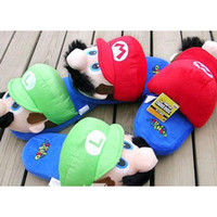 Wholesale super mario slippers adults slippers slipper mario and luigi slippers Doll toy SMPDX004