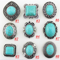 Wholesale Vintage Gemstone Rings Elegant European Rings Turquoise Rings assorted designs R052