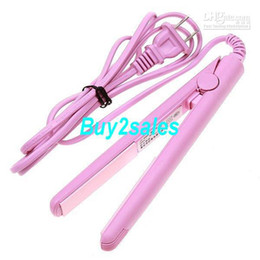 Wholesale Pink Electronic Mini Hair Straightener Straightening
