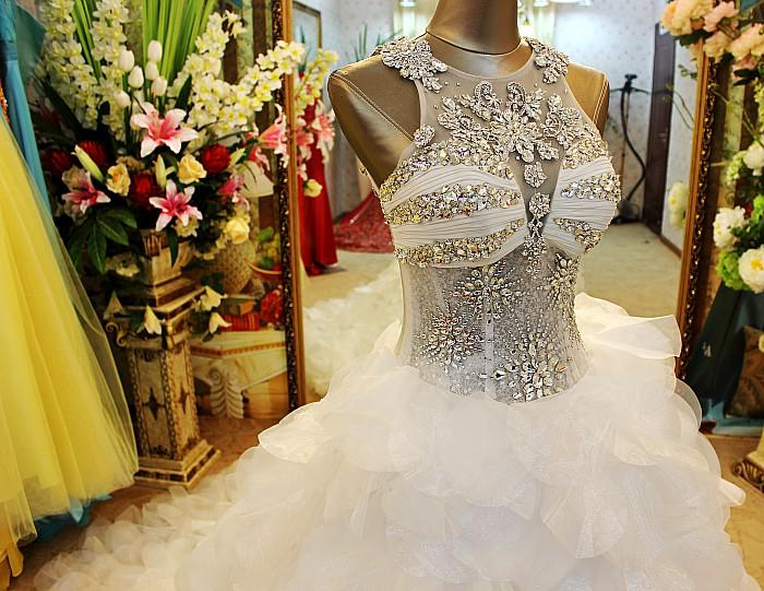 2013 new jewel bling bling bodices a line of wedding for Www dhgate com wedding dresses