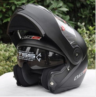 Wholesale ECE DOT LS2 undrape face helmet OFF Road Helmet with ABS and matte black color Motorcycle helmet Moto helmet Ls2 FF370 Motorbike helmet