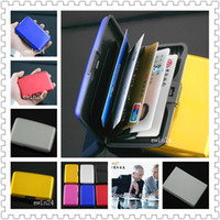 Wholesale Waterproof Aluminum Metal Business Credit ID Card Holder Purse Wallet New Hot Selling Concise fashion