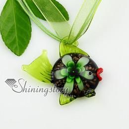 fish flower flowers inside lampwork murano Italian venetian handmade glass necklaces pendants cheap fashion jewelry Mup1862MY8
