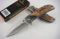 Wholesale high quality OEM Browning folding hunting Knife blade HRC wood handle