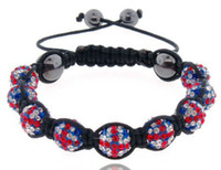 Celtic olympic flag - Shamballa UK Flag Bracelet London Olympic Gift pave CZ Disco Crystal Ball Union Jack Bracelet