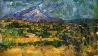 Нож Картина маслом View Village Mountain Art Картина ручной нож стены искусства картины на холсте