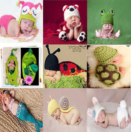 Wholesale Newborn Baby Infant Handmade Animal Crochet Hat Costume Photo Photography Prop
