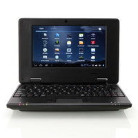 Wholesale 2013 New VIA8850 inch Google Android TFT HD Mini Notebook Laptop Camera WiFi WLAN G HDMI Black Color