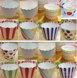 1500 pcs Paper bucket MUFFIN paper cake cups,Stripe and Dot Paper CUPCAKE CASES, baking cup,cake holder H122