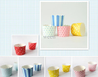 Wholesale 500 Round bucket paper cake cups MUFFIN CUPCAKE CASES bake baking cup cake holder H122