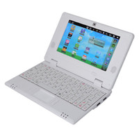 Wholesale Brand New VIA8850 inch Google Android HD Mini Notebook Laptop White Color Camera WiFi WLAN G HDMI