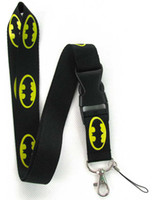Wholesale Hot Batman Lanyard MP3 cell phone keychains Neck Strap Lanyard Strap