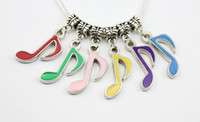 Wholesale New Fashion Music Art dangle charms DIY beads pendant fit European bracelet necklace Jewelry