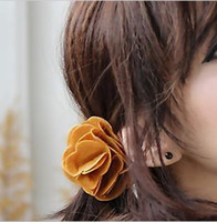 Wholesale The new camellia headdress colorful rose hair band multicolor